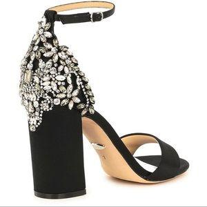 Badgley Mischka Shoes - Badgley Mischka Ainsley Jewel Satin Dress Sandals